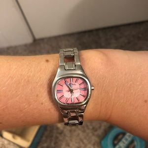 Fossil Accessories - Fossil Watch with Pink Face